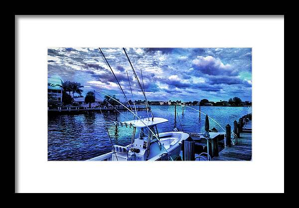 Photography Framed Print featuring the photograph Blue by Justin Miller