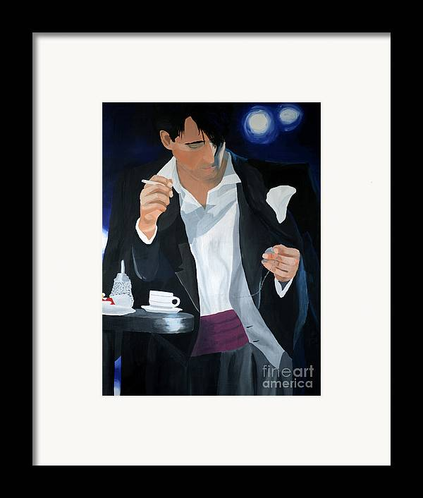 Art Framed Print featuring the painting Blue Man by Eva-Maria Becker