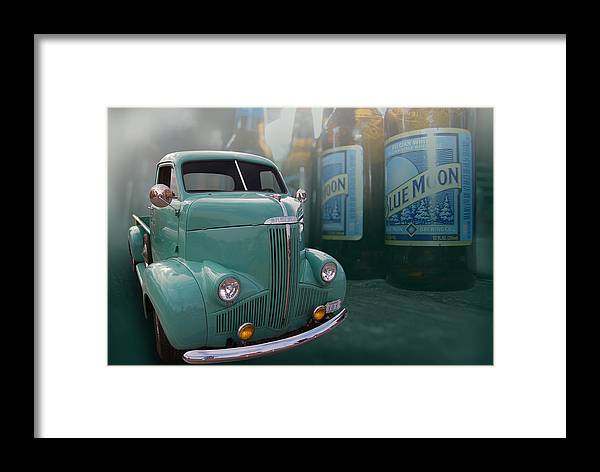 Hot Rod Framed Print featuring the photograph Blue Moon Stoody by Bill Dutting