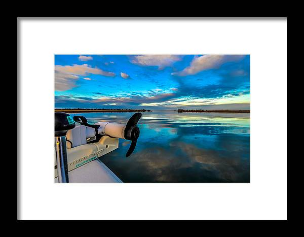 Boat Framed Print featuring the photograph Blue Morning by Salt Spray Photography
