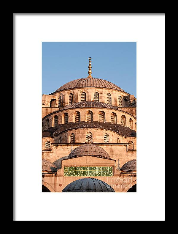 Istanbul Framed Print featuring the photograph Blue Mosque Domes 02 by Rick Piper Photography