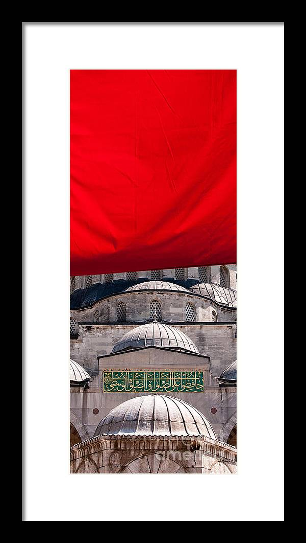 Istanbul Framed Print featuring the photograph Blue Mosque Domes 04 by Rick Piper Photography