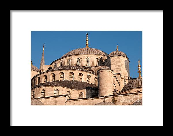 Istanbul Framed Print featuring the photograph Blue Mosque Domes 05 by Rick Piper Photography