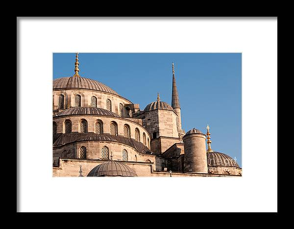 Istanbul Framed Print featuring the photograph Blue Mosque Domes 08 by Rick Piper Photography