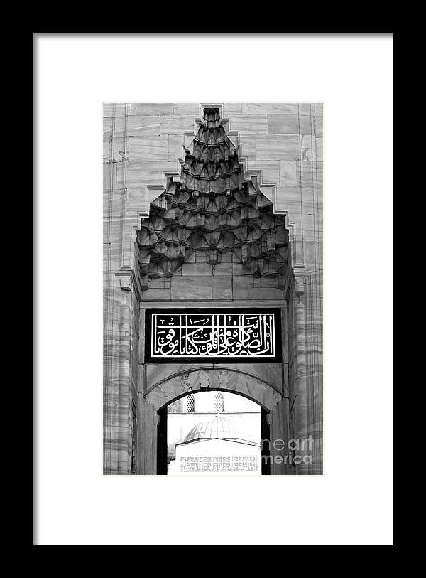 Istanbul Framed Print featuring the photograph Blue Mosque Portal by Rick Piper Photography