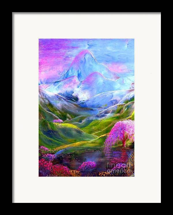 Mountain Framed Print featuring the painting Blue Mountain Pool by Jane Small