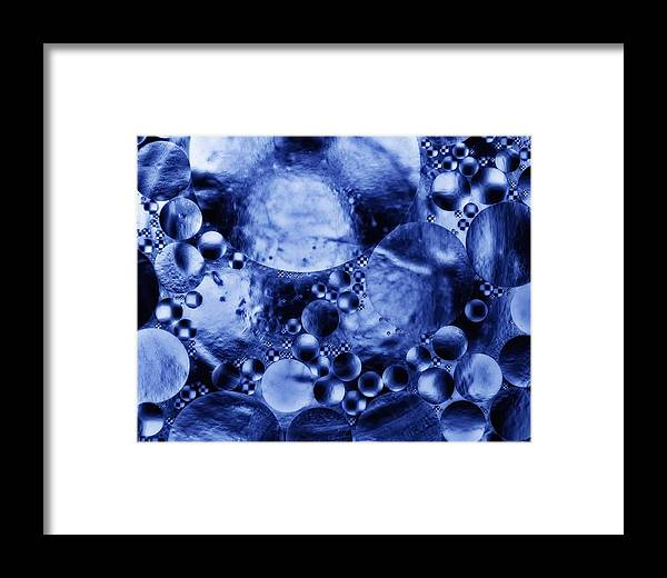 Abstract Framed Print featuring the photograph Blue Orbs by Mark Fuller