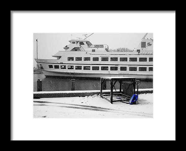 Cape Cod Framed Print featuring the photograph Blue Pallet Jack by David DeCenzo