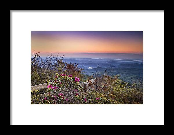 Blue Ridge Parkway Framed Print featuring the photograph Blue Ridge Dawn by Andrew Soundarajan
