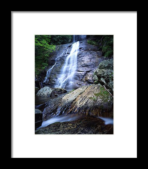 North Carolina Framed Print featuring the photograph Blue Ridge Falls by Ray Mathis