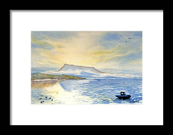 Landscape Framed Print featuring the painting Blue Rigi by Glenn Marshall