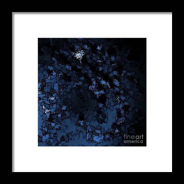 Digial Framed Print featuring the digital art Blue Star by Lyle Bonn