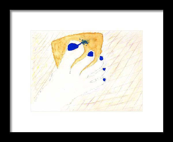 Jim Taylor Framed Print featuring the painting Blue The Big Toe by Jim Taylor