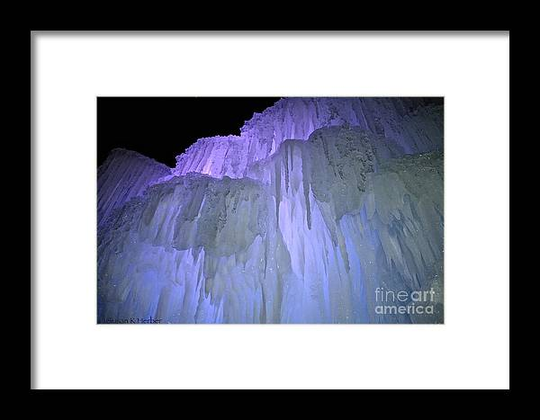 Ice Framed Print featuring the photograph Blue Violet Ice Mountain by Susan Herber