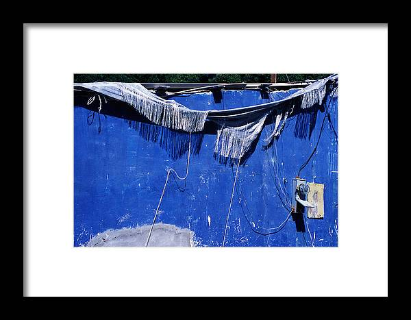 Blue Framed Print featuring the photograph Blue Wall by Bernard Barcos