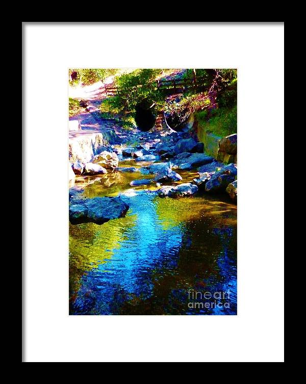 Water Framed Print featuring the photograph Blue Water by Sherry Stone