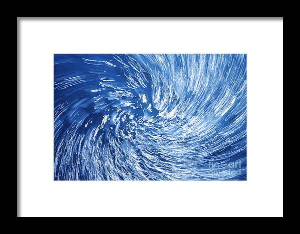 Twister Framed Print featuring the photograph Blue Water Twister Abstract by Konstantin Sutyagin