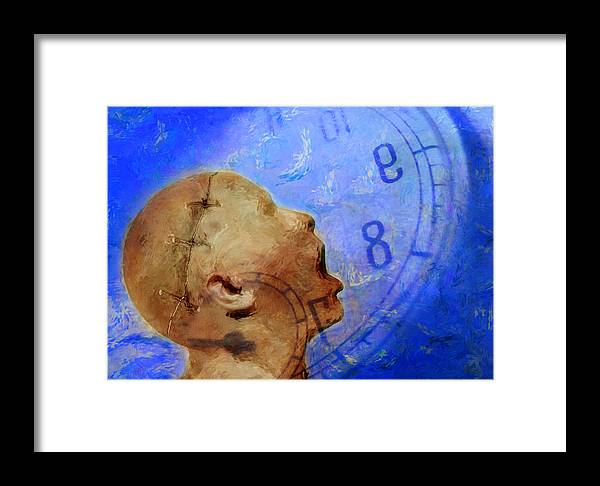 Abstract Framed Print featuring the photograph Blue World by Andrew Giovinazzo