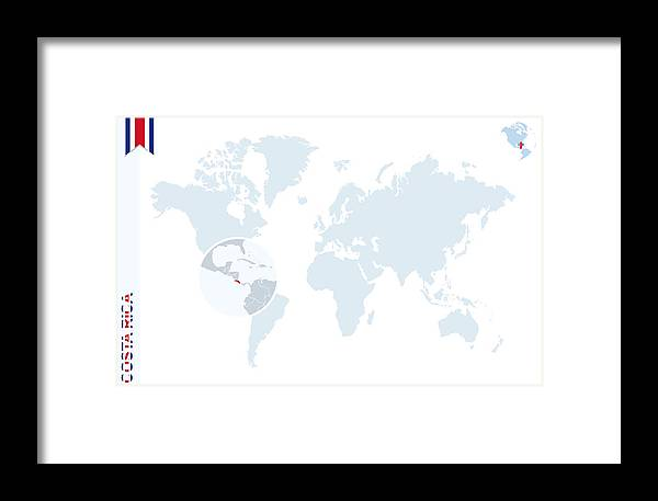 Costa Rica On Map Of World