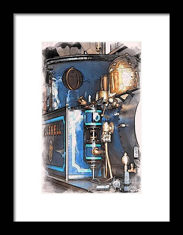 Bluebell Railway Framed Print featuring the digital art Bluebell by Paul Stevens