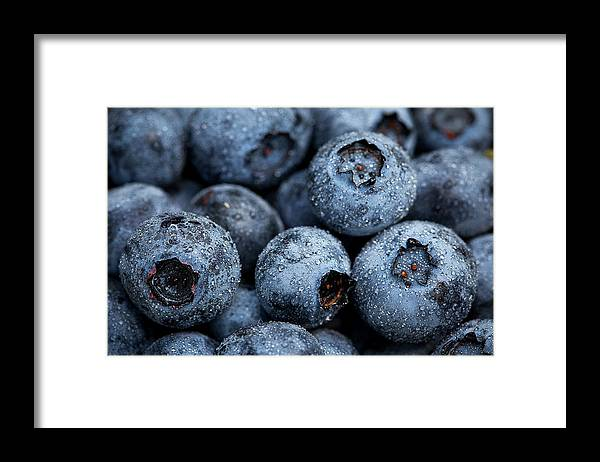 Surrey Framed Print featuring the photograph Blueberries Fruits by Kevin Van Der Leek Photography