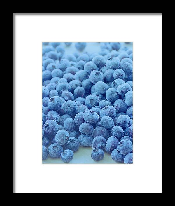 Berries Framed Print featuring the photograph Blueberries by Romulo Yanes