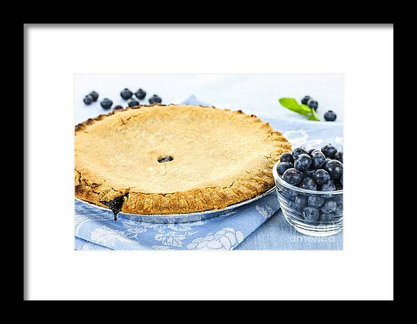 Blueberry Framed Print featuring the photograph Blueberry Pie by Elena Elisseeva