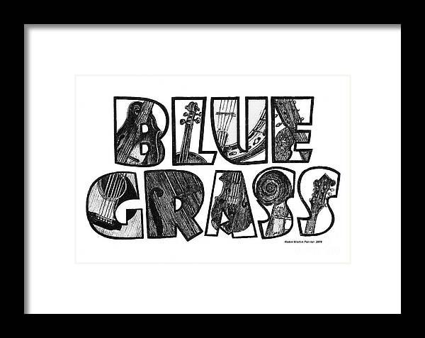 Bluegrass Design Framed Print by Robin Martin Parrish