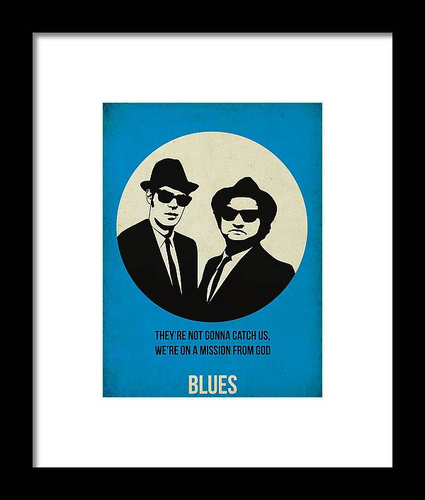 Framed Print featuring the painting Blues Brothers Poster by Naxart Studio