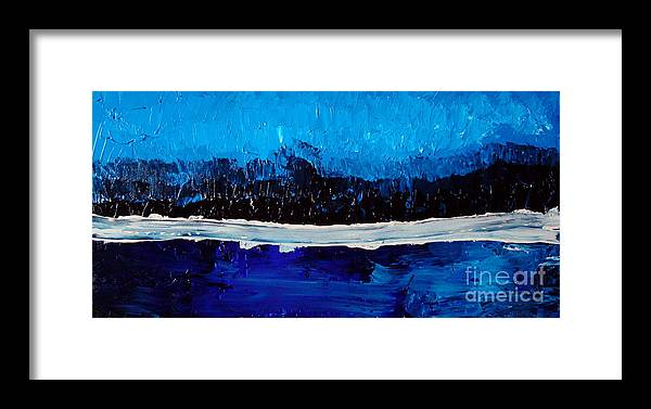 Blue Framed Print featuring the painting Blues by Holly Picano