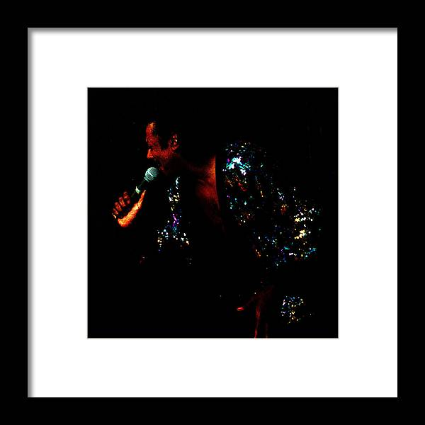Blues Singer Framed Print featuring the photograph Blues Lover by Leon Hollins III