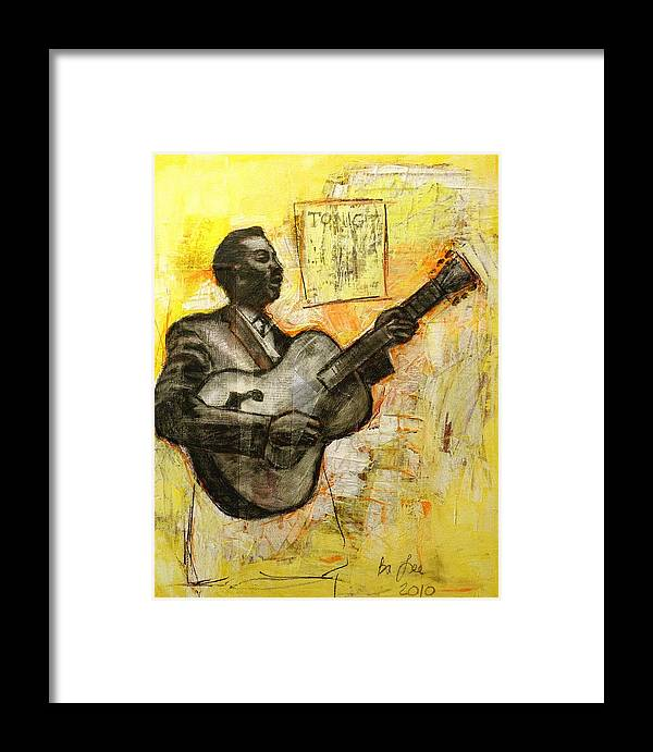 Blues Framed Print featuring the mixed media Blues Tonight by Bryan Tilford