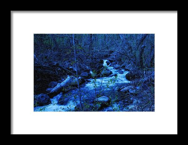 Blue Framed Print featuring the photograph Blues Traveler by Donna Blackhall