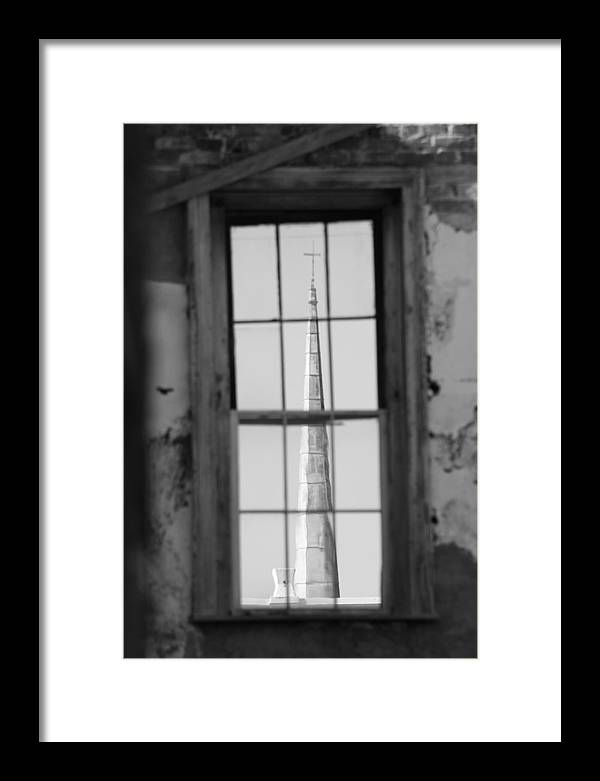 Steeple Framed Print featuring the photograph Blurred Faith by Peggie Aguilar-Stevens
