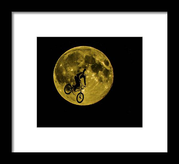 Moon Framed Print featuring the photograph Bmx Moon by Dawn OConnor