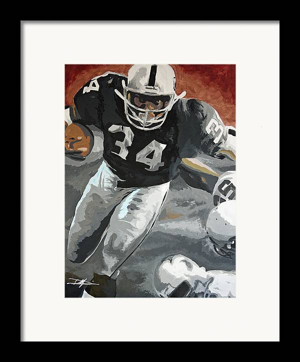 Bo Jackson Framed Print featuring the drawing Bo Jackson by Don Medina