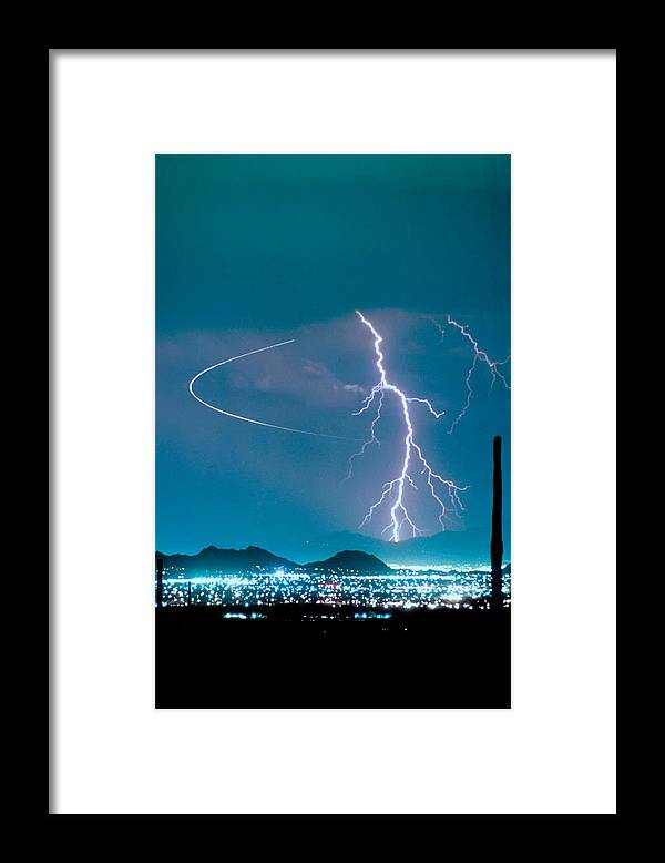 Lightning Framed Print featuring the photograph Bo Trek The Lightning Man by James BO Insogna