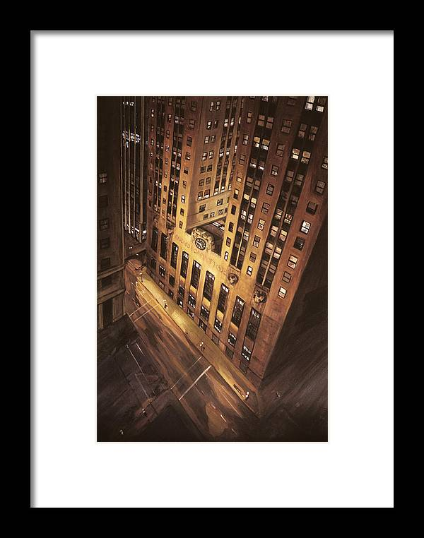 Chicago Framed Print featuring the painting Board Of Trade by Christopher Buoscio