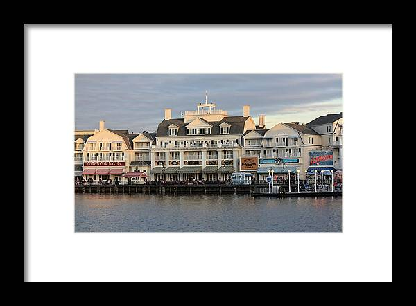 Disney Framed Print featuring the photograph Boardwalk by Jenny Hudson