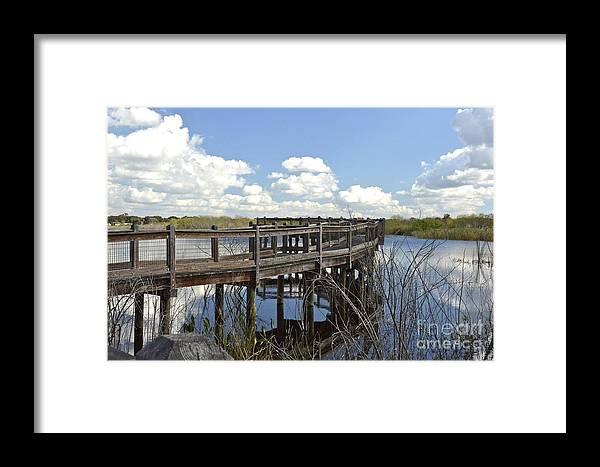 Boardwalk Framed Print featuring the photograph Boardwalk Reflections by Carol Bradley