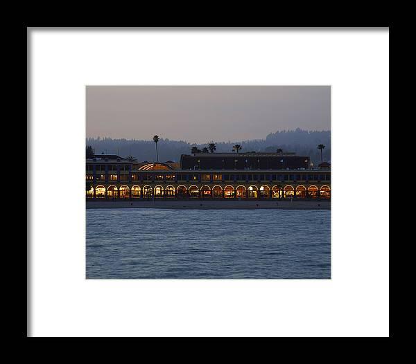 Santa Cruz Framed Print featuring the photograph Boardwalk Sunset by Neal Martin
