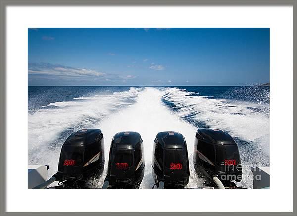 Boat 1000 hp Speedboat  by Fototrav Print