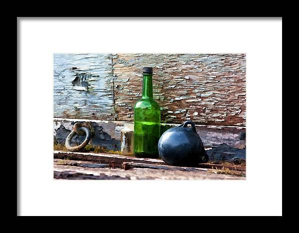 Dan Sabin Framed Print featuring the photograph Boat Deck Still Life by Dan Sabin