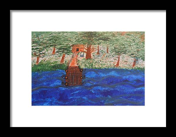 Dock Framed Print featuring the painting Boat Dock by Melissa Conaway