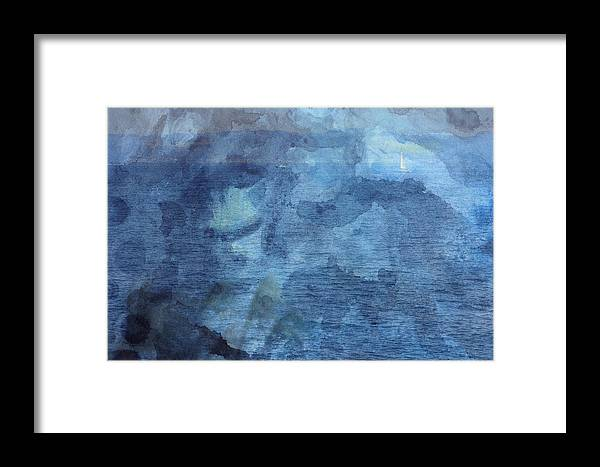 Island Framed Print featuring the photograph Boat From Afar by Beverly Claire Kaiya