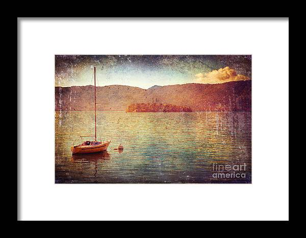 Italy Framed Print featuring the photograph Boat On Lake Maggiore by Silvia Ganora
