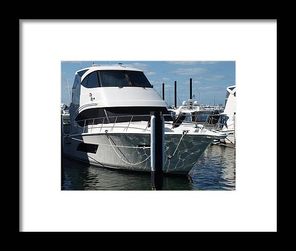 Reflections Framed Print featuring the photograph Boat Reflections by Michaela Perryman
