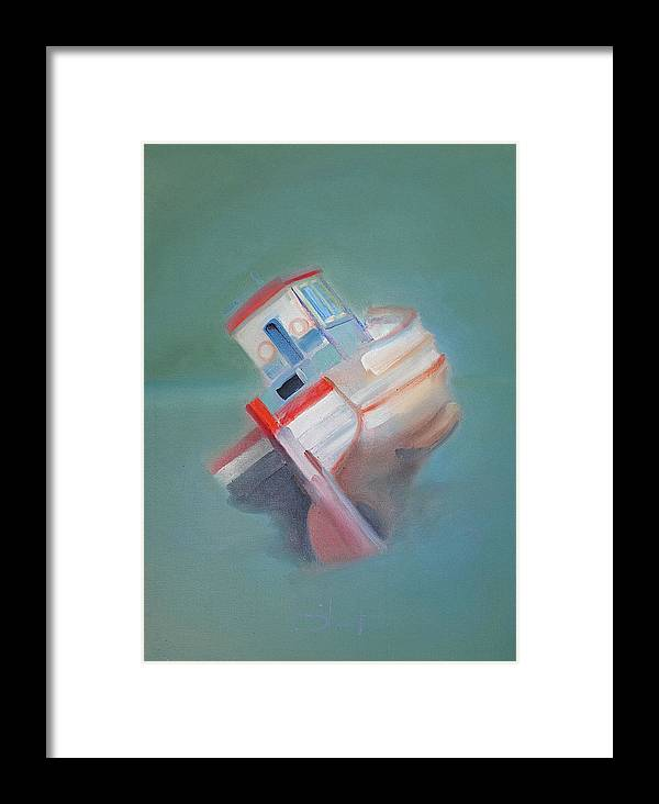 Fishing Boat Framed Print featuring the painting Boat Retired Tavira by Charles Stuart