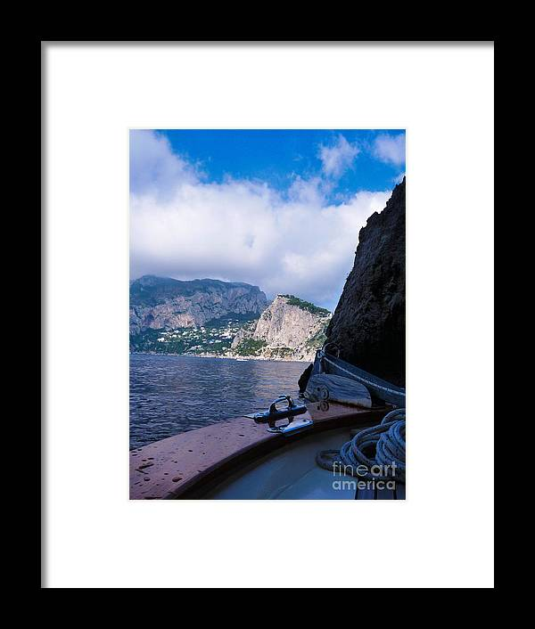 Boat Framed Print featuring the photograph Boat Ride To Capri by Mike Ste Marie