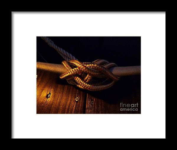 Boats Framed Print featuring the photograph Boat Tie by Karen Lambert